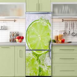 Stickere 3D pentru uși, Lime înghețat, 1 foaie de 80 x 200 cm