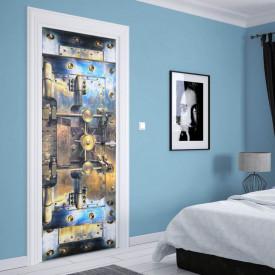 Stickere 3D pentru uși, Seiful în culori deschise, 1 foaie de 80 x 200 cm