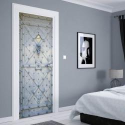 Stickere 3D pentru uși, Ușa din metal, 1 foaie de 80 x 200 cm