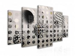 Tablou modular, Bile pe un fundal abstract