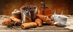 Tablou modular, Cafea fierbinte și produse de patiserie proaspete