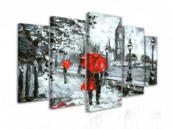 Tablou modular, Cuplu îndrăgostit în Londra ploioasă