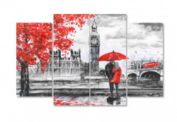 Tablou modular, Cuplu îndrăgostit în Londra tomnatica