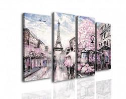 Tablou modular, Cuplu îndrăgostit în Parisul de primavara