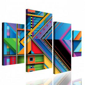 Tablou modular, Geometria colorată