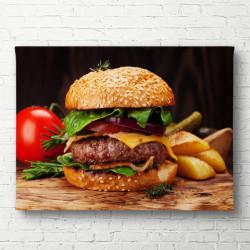 Tablouri Canvas, Burger cu cartofi prăjiți