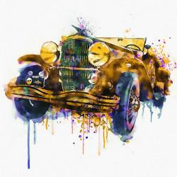 Tablouri Canvas, Desenul cu mașina