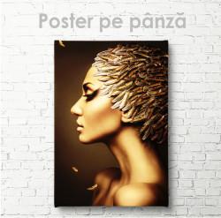 Постер, Девушка с золотыми перьями 1