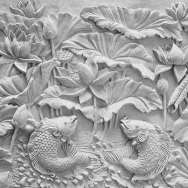 Fototapet 3D, Un model de flori din ipsos