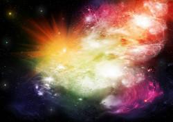 Fototapet Astronomie, Explozie de culori