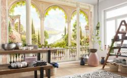 Fototapet, Balconul cu ferestre arcuite