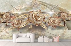 Fototapet, Broșe în formă de trandafiri