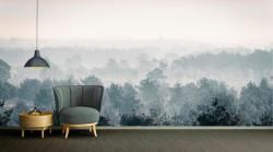 Fototapet, Copaci în ceață