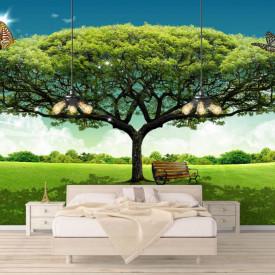 Fototapet, Copacul verde pe fundalul cerului
