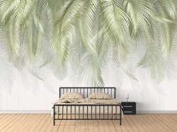 Fototapet, Frunze de palmier de culoare verde