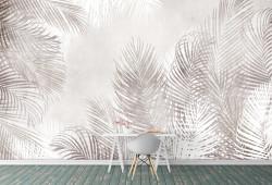 Fototapet, Frunze delicate de palmier