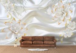 Fototapet, Fundal alb de mătase