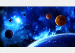 Fototapet, Galaxia albastră