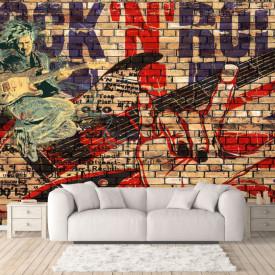 Fototapet, Grafitti pe un perete de cărămidă