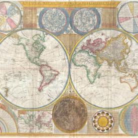 Fototapet, Harta lumii maro