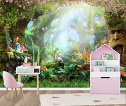 Fototapet pentru copii, Pădure din basme pentru copii