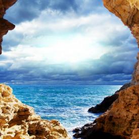 Fototapet, Peștera cu ieșire la mare