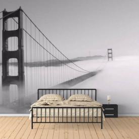 Fototapet, Podul acoperit de ceață