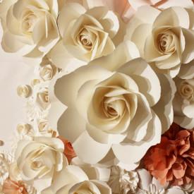 Fototapet, Trandafiri bej