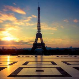 Fototapet, Turnul Eiffel la apus de soare