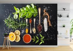 Fototapete Alimente și băuturi, Ingrediente pentru o masă delicioasă