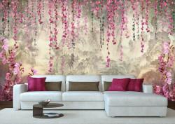 Fototapete, Pădure fermecată cu flori violet