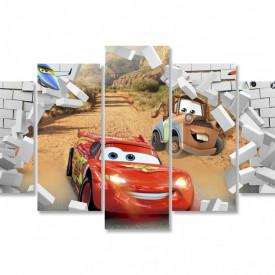 Multicanvas, Mașina roșie și perete