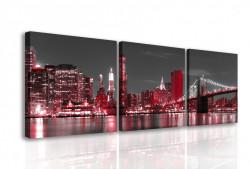 Multicanvas, Orașul de noapte în lumini roșii