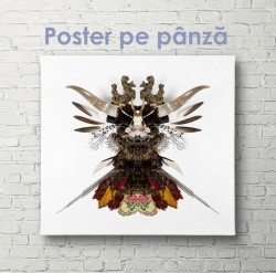Poster, Abstracție pe fundal alb