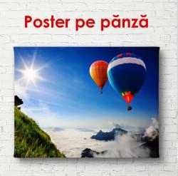 Poster, Baloane pe cerul albastru
