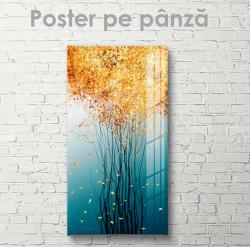 Poster, Copaci subțiri de toamnă