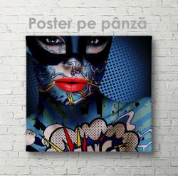 Poster, Fată în mască