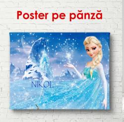 Poster, Fata într-o rochie albastră