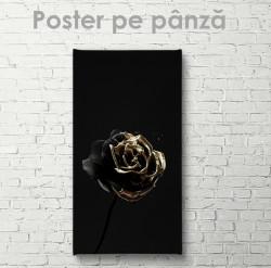 Poster, Floare estetică cu particule de aur