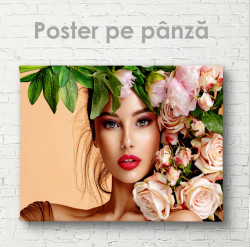 Poster, Lady în flori