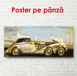 Poster, Mașină aurie din trecut