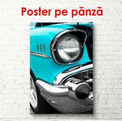 Poster, Mașină retro albastră