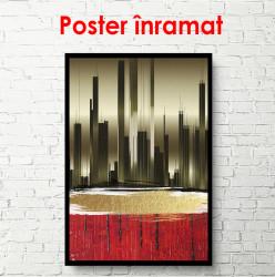 Poster, Siluetă de oraș abstract
