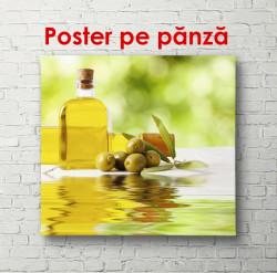 Poster, Sticlă cu ulei de măsline