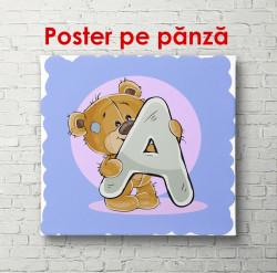 Poster, Ursulețul cu litera A