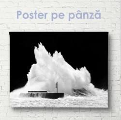 Poster, Valul mare lovește stânca