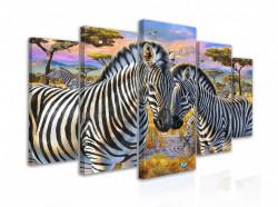 Tablou modular, Două zebre