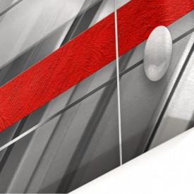 Tablou modular, Fantezie roșu-gri.