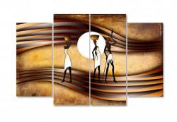 Tablou modular, Imagine abstractă a oamenilor africani