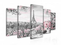 Tablou modular, Trandafiri și Turnul Eiffel